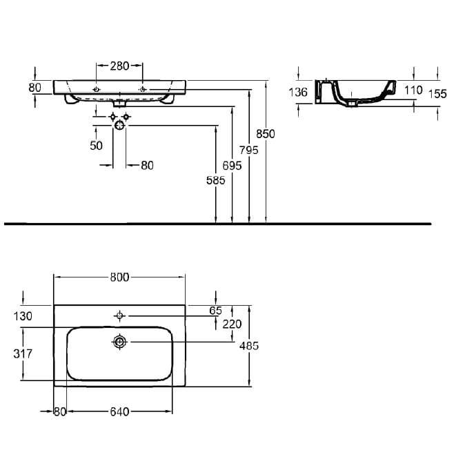 Umywalka Koło Modo 80 Cm Reflex L31980900 Sengrandpl